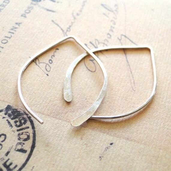 Wishbone Earrings - Small Sterling Silver