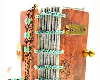 Miniature Mixed Metal Book With Brass Stamping 2