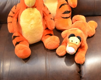 "TIGGERS THREE ( Lg  Med  Small )  Plush.  Lg meas 22"", Med: 16"",  Sm.  13"" by DISNEY for Mattel  Excellent Cond."