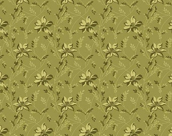 Sequoia 8753-G Foothills Green Buds and Vines by Edyta Sitar for Andover Fabrics