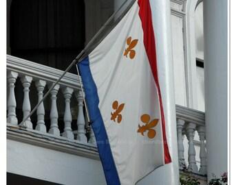 Fleur de Lys Flag Photograph