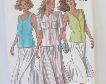New Look skirt and top Paper Pattern uncut used Size 8-10-12-14-16-18,USA  Simplicity 6329