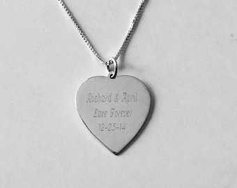 Christmas gift- Personalized Sterling Silver Necklace -Valentine's day Present, Gift for Women , Ladies