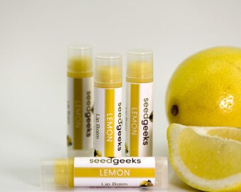 Lemon Handmade Lip Balm - All Natural, Handcrafted, Beeswax, Chapstick