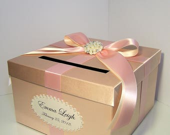 Wedding Card Box Gift Card Box Money Box Holder-Customize your color (small size 10x10x6)