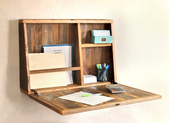 Drop Down Secretary Desk Wall Mounted Desk For Small