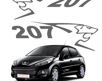 Set of 2 stickers stickers Peugeot 207