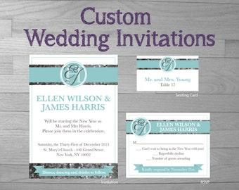 Custom Wedding Invitation Package