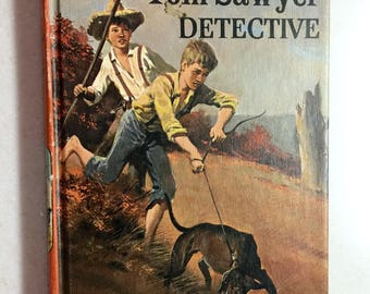Vintage Tom Sawyer Detective Book By Samuel Clemons Mark Twain Mystery Book 1965