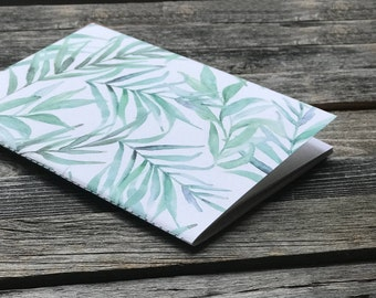 Blank Notebook Journal Fern Design | Watercolor Greenery Design | Travel Journal | Gifts for Her | Idea Notebook | Jotters | Diaries | Books