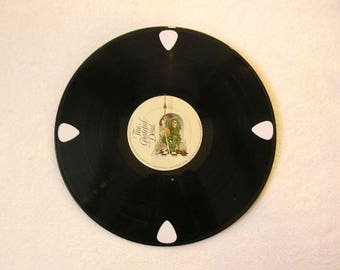 Grateful Dead Record Clock Made From Scratched Vinyl Album - Jerry Garcia