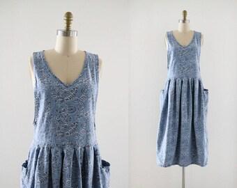 chambray jumper dress
