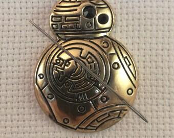 Star Wars Inspired BB8 Needleminder / BB8 Needleminder / Gold Robot Needleminder
