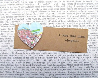 Edinburgh, Scotland map magnet: heart shaped magnet made with an old UK map. Gift idea for new home, best friend, birthday,, s gift