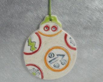Rollie Robot Ornament, Handmade Ceramics by Karlene Voepel