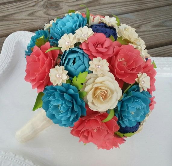 Paper Bouquet Paper Flower Bouquet Wedding Bouquet Toss