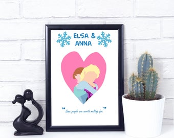 Disney Frozen Elsa & Anna Minimalist