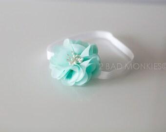 Mint headband, Baby Girl Headband, Easter Headband, Baby Easter Headband, newborn headband, Baby headband, newborn Photo Props