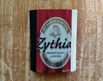 Hand bound notebook made from beer can