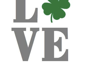 St. Patrick's Day LOVE Poster 8 x 10
