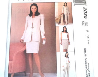 McCall's 2025 Uncut Four Piece Suit Office Wardrobe Pattern in Sizes 12 14 16 presented by Donellensvintage