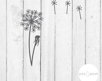 Flower SVG - Dandelion SVG - Spring SVG - Flower Clipart - Dandelion Clipart - Handdrawn Dandelion - Flower Cut File - Cricut - Spring Files