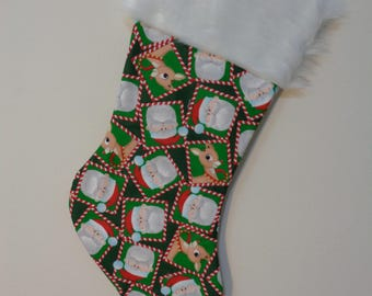 Rudolph the Red Nosed Reindeer Stocking - Santa and Rudolph