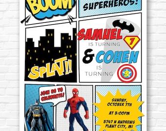 Superhero Comic Book Invitation