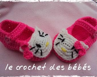 Slipper crochet baby