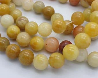 15 mm round red jaspe stone of life jaune10 jade