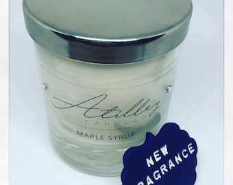Maple Syrup scented soy wax candle 20cl