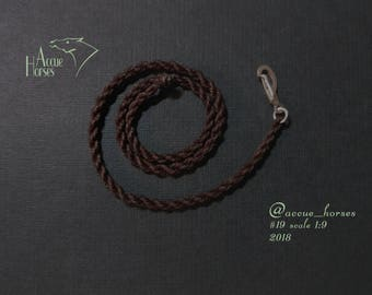AH LSQ Breyer model horse TACK accessories   Lead Rope   for traditional scale 1:9 cm custom halter tack basic color   Brown