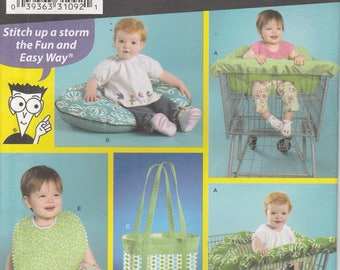 Shopping Cart Cover Pattern Pillow Cover, Bib, Diaper Bag Uncut Simplicity 3561 Sewing For Dummies