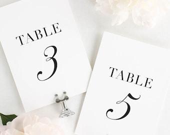 "Glam Monogram Table Numbers - 5x7"""