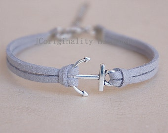 10 pcs Handmade bracelet, anchor bracelet
