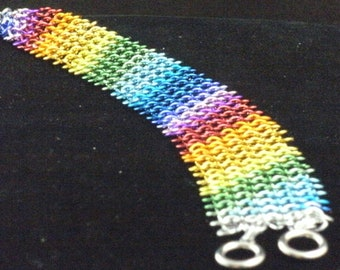 Rainbow Guenevere Chainmaille Bracelet