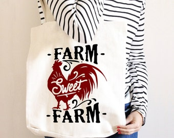 Farm Syle Canvas Tote Bag