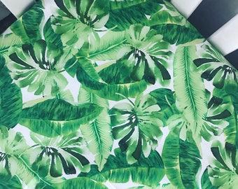 Tropical palms crib sheet | emerald green mint palm leaves | tropical nursery | gender neutral crib sheet | toddler sheet | baby shower gift