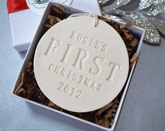 Personalized Baby's First Christmas Ornament, Baby's First Ornament - Gift Boxed and Ready to Give