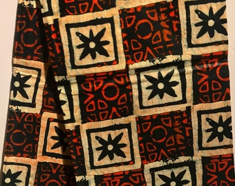 African print fabric, Square Batik, African Wax Print, Tribal, African Ankara, African Material, sold by the yard