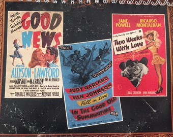 MGM Good News / In The Good Old Summertime / Two Weeks With Love vinyl Album Cover Notebook