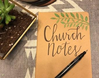 Moleskine Notebook- Church Notes- Journal