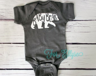 Baby Bear bodysuit, one piece infant onesie