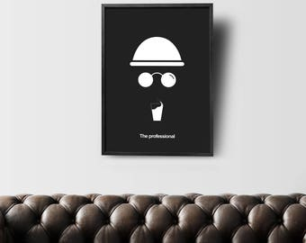 Leon - Minimal Movie Poster - Movie Print - Film Poster