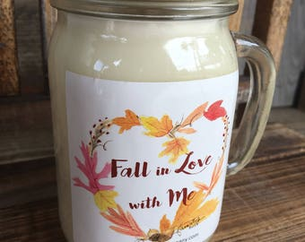 Pecan Pie Candle  / Soy Candle / Fall Candle / Fall Scent / Autumn Scent /Drinking Glass / Fall Scented Candle / Thanksgiving Decor