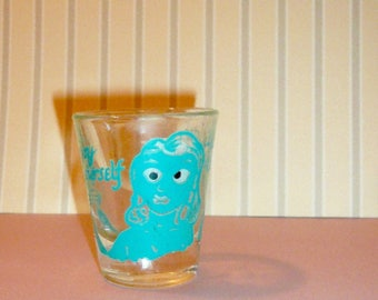 Vintage Shot glass Barware Risqué Collectible Man Cave Gift Free Shipping by VintageReinvented