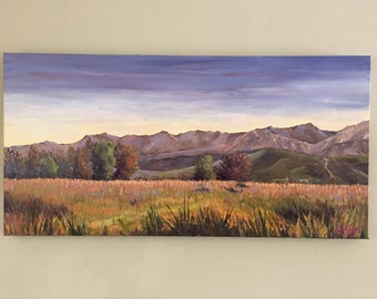 Carpinteria oil painting, landscape tree painting, California landscape oil painting, tree oil painting, Original landscape painting