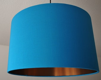 "Lampshade ""Turquoise-Copper"""
