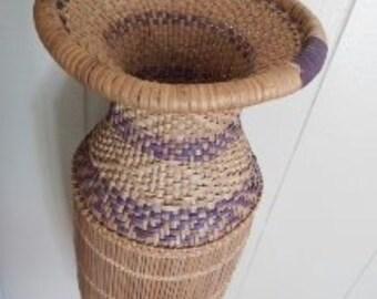 Unique Handwoven Hanging Basket!