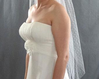 Swiss Dot Veil, Wedding Veil, Polka Dot Veil, Bridal Veil, Dotted Veil